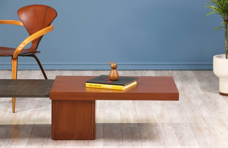 Mid-20th Century John Keal Expanding Coffee Table for Brown Saltman For Sale