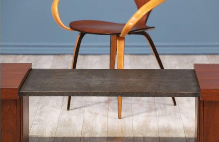 Wood John Keal Expanding Coffee Table for Brown Saltman For Sale