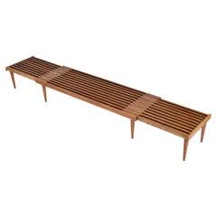 John Keal Expanding Slat Bench in Beech Wood
