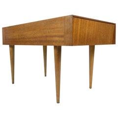 John Keal for Brown-Saltman Mahogany Lamp Table, 1950s