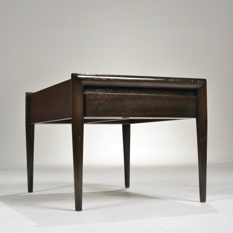 Mid-20th Century John Keal for Brown Saltman Mahogany Side Table For Sale