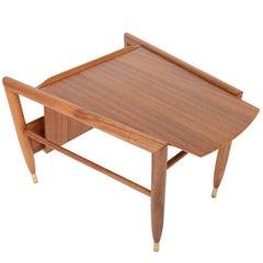 John Keal for Brown Saltman Mahogany Wedge Table