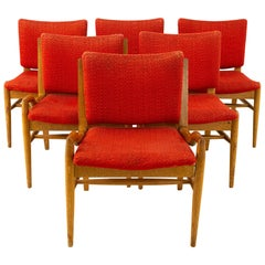 John Keal for Brown Saltman Midcentury Mahogany Dining Chairs, Set of 6