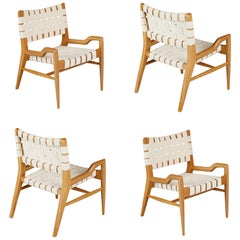 John Keal for Brown Saltman Sculptural Lounge Chairs, Set of Four, circa 1954