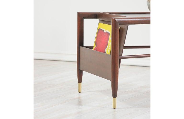 John Keal Magazine Side Table for Brown Saltman For Sale 4