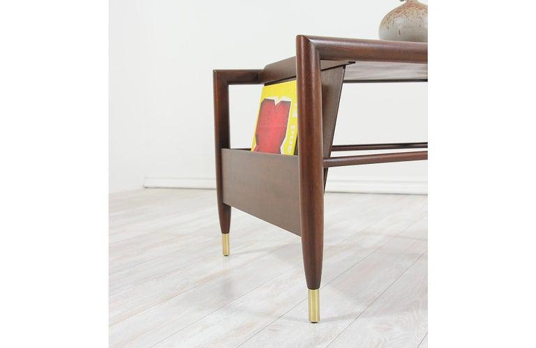 John Keal Magazine Side Table for Brown Saltman For Sale 5