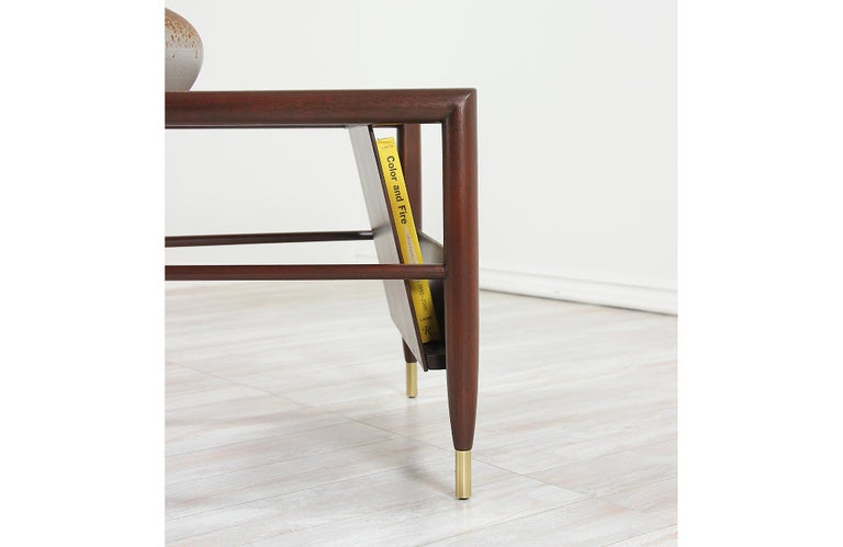 John Keal Magazine Side Table for Brown Saltman For Sale 7
