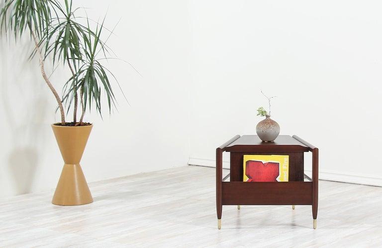 American John Keal Magazine Side Table for Brown Saltman For Sale