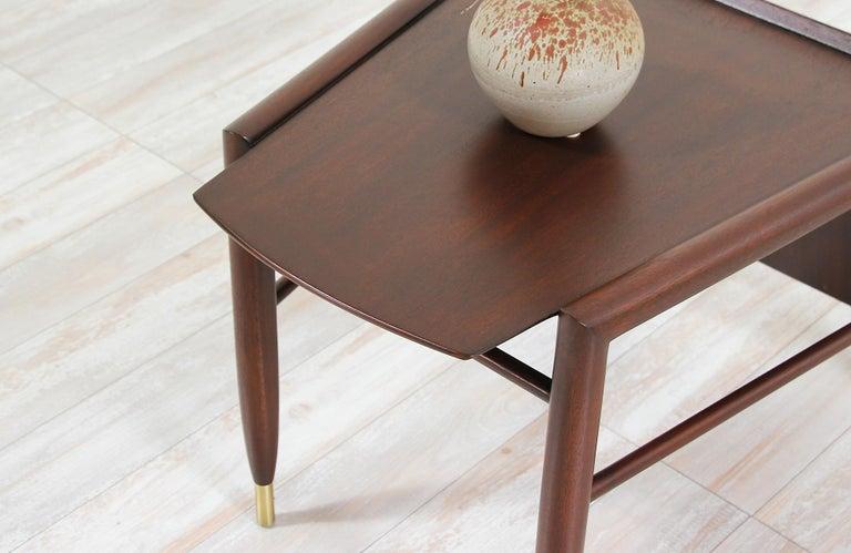 John Keal Magazine Side Table for Brown Saltman For Sale 1