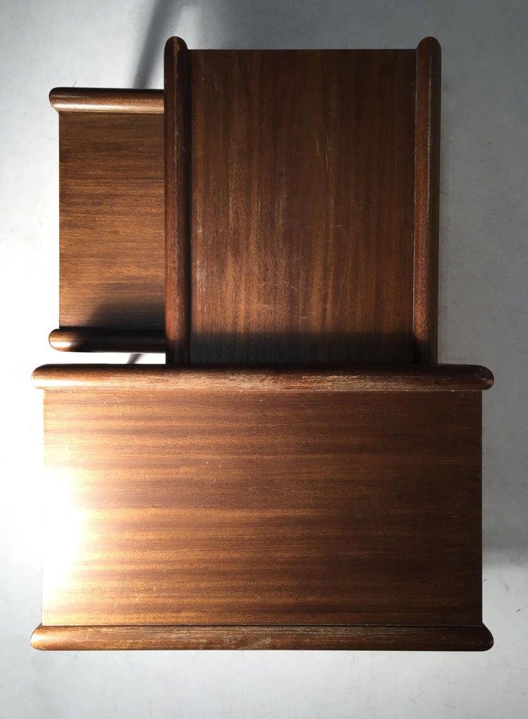 John Keal nesting tables for Brown Saltman. Manner of Robsjohn Gibbings for Widdicomb