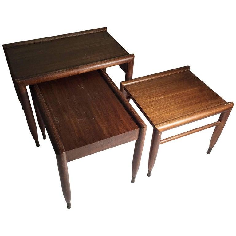 John Keal Nesting Tables for Brown Saltman For Sale