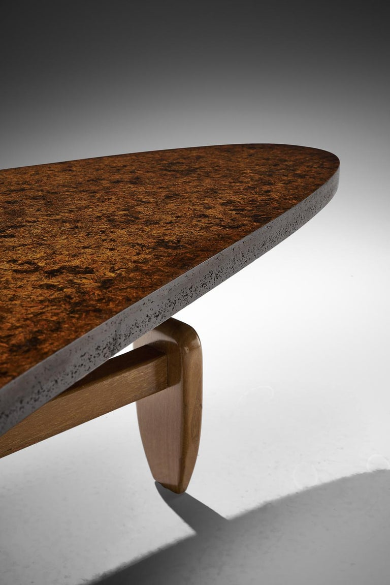 John Keal 'Outrigger' Coffee Table In Good Condition For Sale In Waalwijk, NL