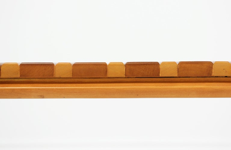 John Keal Slatted Bench for Brown Saltman For Sale 6