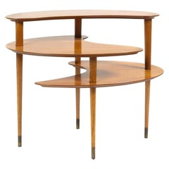 John Keal Three-Tiered Side Table, for Brown Saltman, USA, 1950s
