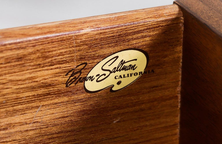 John Keal Two-Tier Nightstands for Brown Saltman For Sale 3