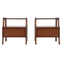 John Keal Two-Tier Nightstands for Brown Saltman