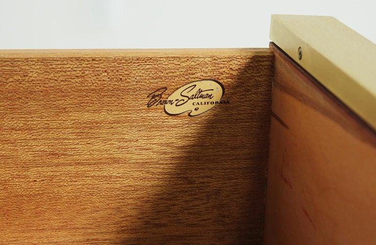 John Keal Walnut and Brass Dresser for Brown Saltman 8
