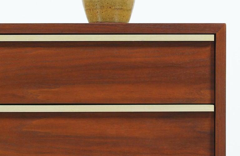 John Keal Walnut and Brass Dresser for Brown Saltman 3