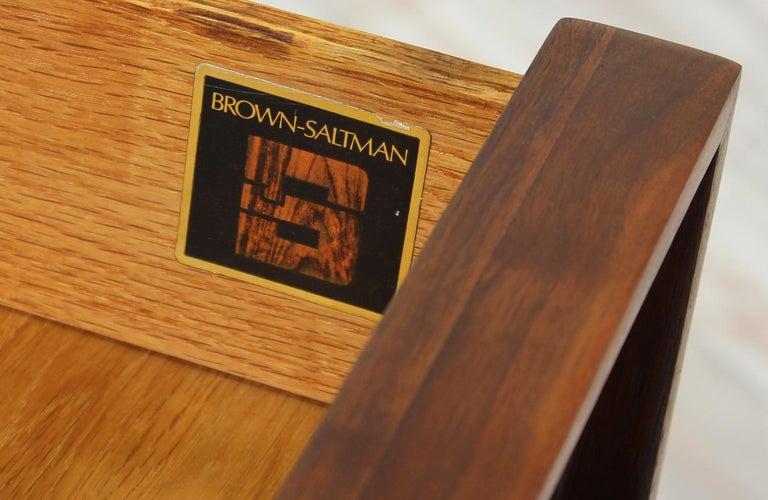 John Keal Walnut Nightstands for Brown Saltman For Sale 3