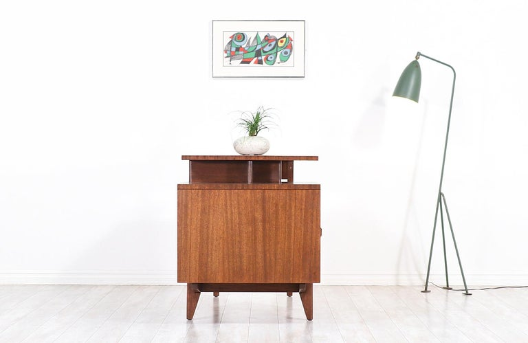 American John Keal Writing Desk with Bookshelf for Brown Saltman For Sale