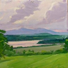 Blithewood: En Plein Air, Impressionist Style Hudson Valley Landscape Painting