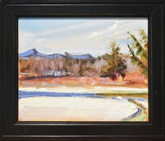 Fall Snowfall: Impressionist Style En Plein Air Landscape Painting, Framed