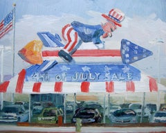 4th of July Sale, Painting, Oil on Other