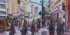 5th and Broadway, Painting, Oil on Canvas