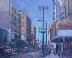 8th and Broadway, Painting, Oil on Canvas