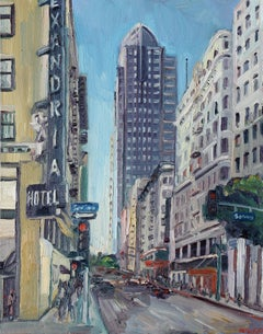 Alexadria Hotel los Angeles, Painting, Oil on Canvas