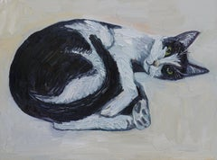 Cow Cat, Painting, Oil on Canvas