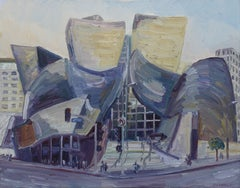 Disney Hall, Painting, Oil on Canvas
