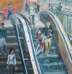 Escalator No.2, Painting, Oil on Canvas