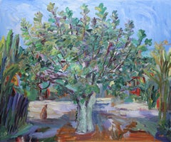 Fig tree in quarantine, Painting, Oil on Canvas