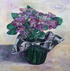 Hydrangeas #1, Painting, Oil on Canvas