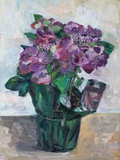 Hydrangeas #2, Painting, Oil on Canvas