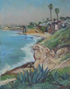 Laguna Beach View, Painting, Oil on Canvas