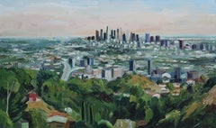 Mulholland View, Painting, Oil on Canvas