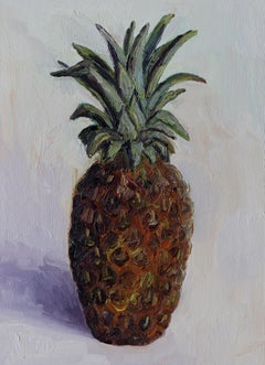 Pineapple still life, Painting, Oil on Canvas