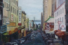 San Francisco Chinatown, Painting, Oil on Canvas