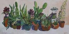 Sari's Cactus Garden, Painting, Oil on Canvas