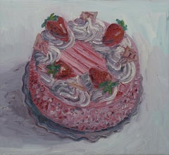 Strawberry Cake, Painting, Oil on Canvas