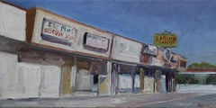 Strip Mall, Painting, Oil on Canvas
