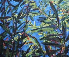Under the Olive tree number 2, Painting, Oil on Canvas