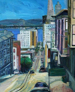 Washington Street San Fransisco, Painting, Oil on Canvas