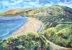 Zuma Beach Malibu, California, Painting, Oil on Canvas
