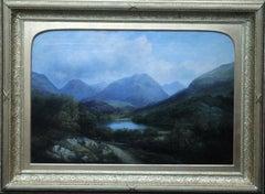 Head of the Glen Argyllshire - Scottish art 19th century landscape oil painting