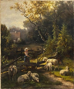 Landscape with a Shepherdess and Her Sheep