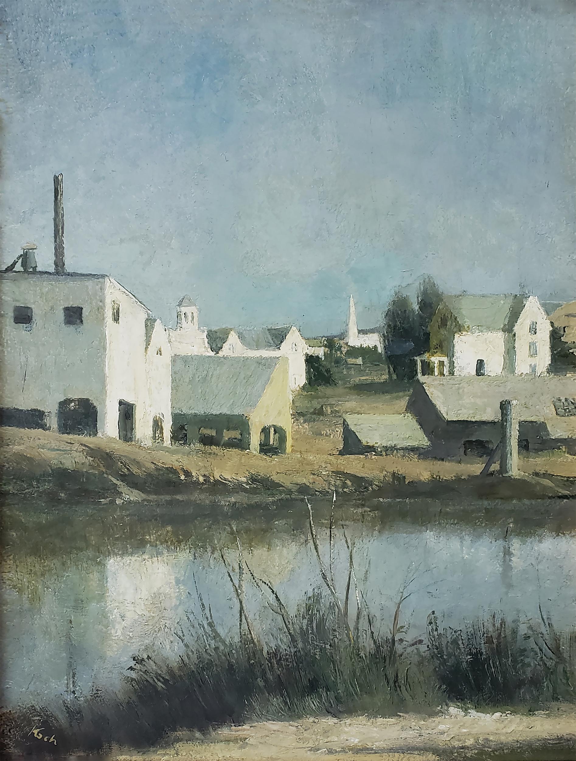 Vermont Barns - Neutral Monochromatic Study in Grays