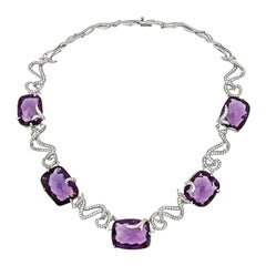 John Landrum Bryant, Vine Amethyst, Platinum and Diamond Necklace